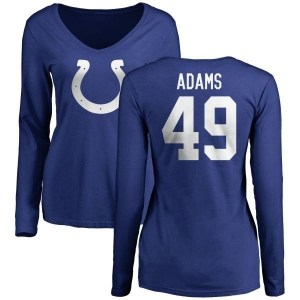 Matthew Adams Indianapolis Colts Women's Royal Pro Line by Branded Name & Number Long Sleeve T-Shirt -