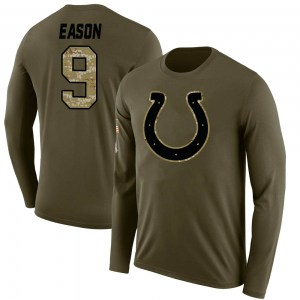 Jacob Eason Indianapolis Colts Youth Legend Olive Salute to Service Sideline Long Sleeve T-Shirt
