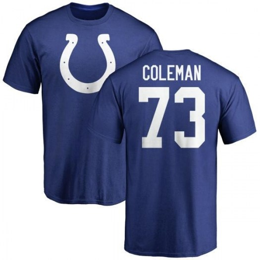Kendall Coleman Indianapolis Colts Youth Royal Name & Number Logo T-Shirt -