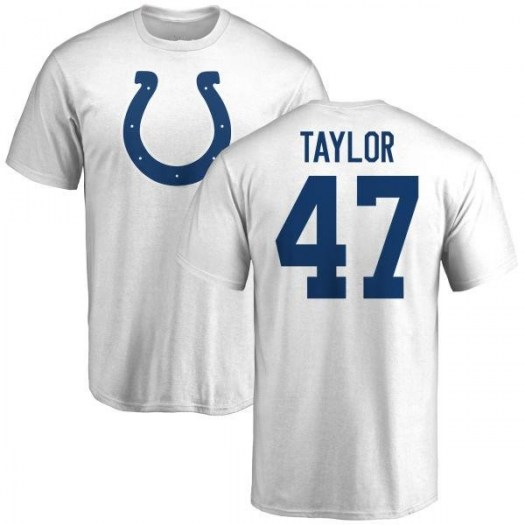 Shakial Taylor Indianapolis Colts Youth White Name & Number Logo T-Shirt -