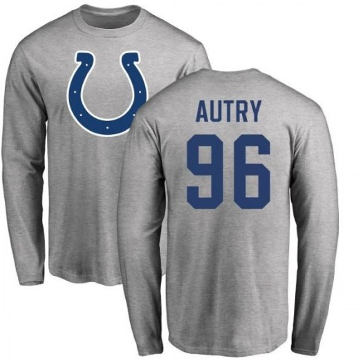 Denico Autry Indianapolis Colts Youth Name & Number Logo Long Sleeve T-Shirt - Ash